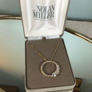 Nolan Miller Glamour collection necklace goldtone